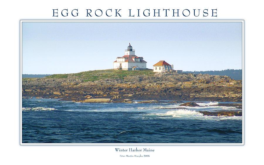 Landscape Photograph - Egg Rock Island Lighthouse by Peter Muzyka