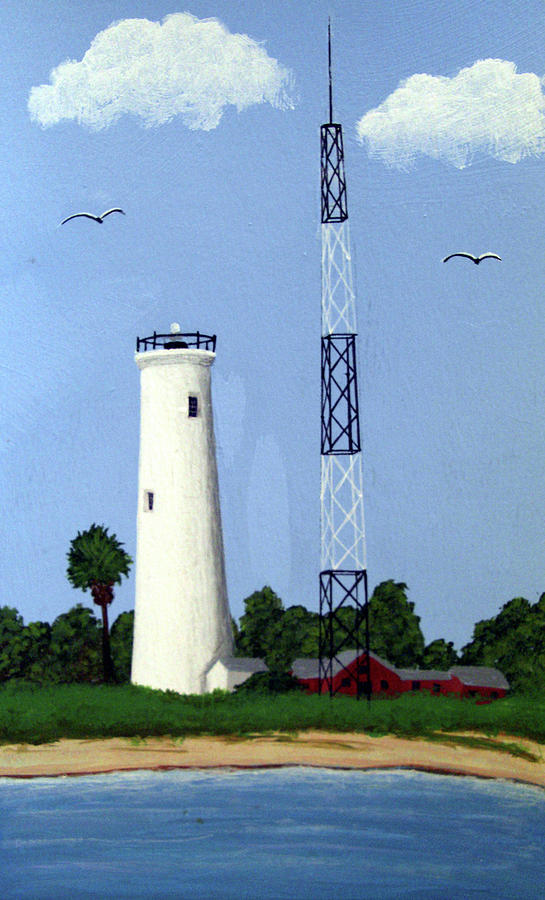Lighthouses Painting - Egmont Key Lighthouse by Frederic Kohli