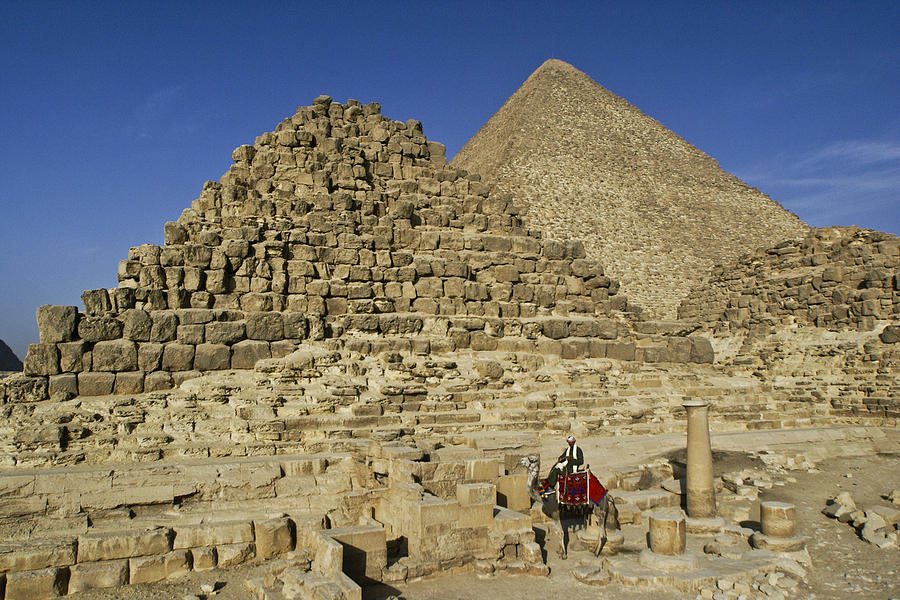 Egypt Photograph - Egypts Pyramids Of Giza by Michele Burgess