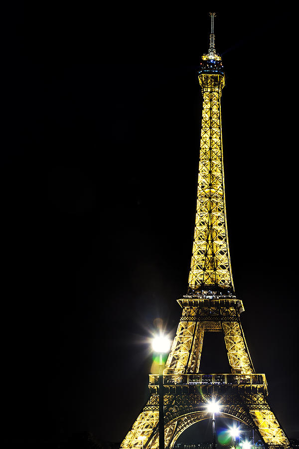 Paris Photograph - Eiffel At Night by Andrew Soundarajan