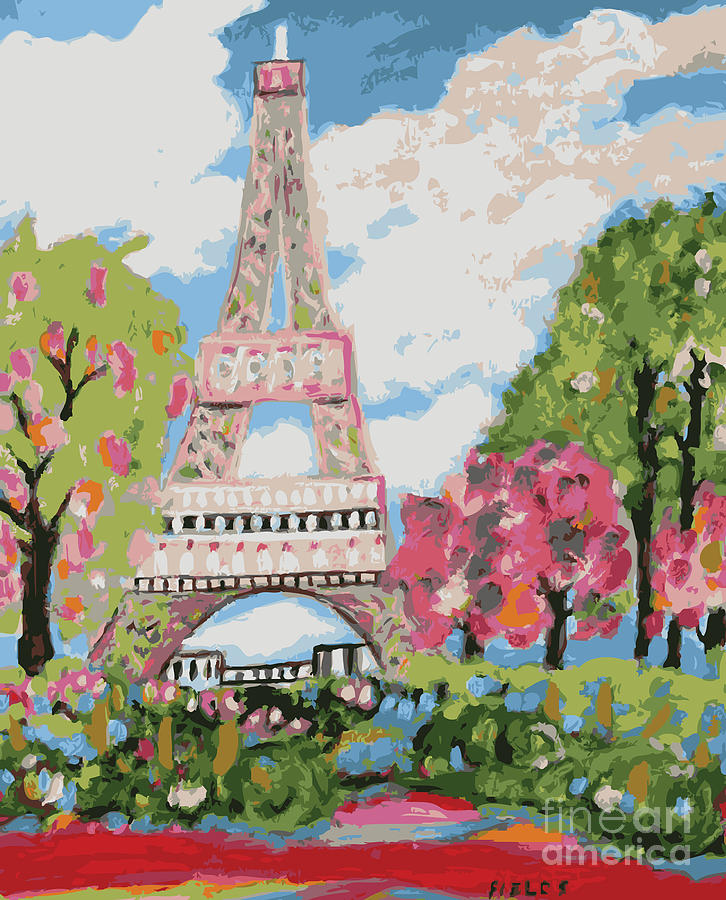Eiffel Tower Digital Art - Eiffel Tower Dream by Karen Fields