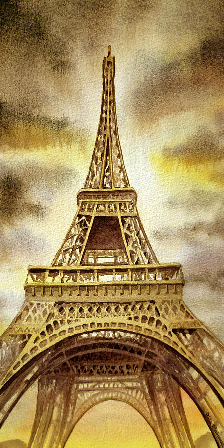 Eiffel Tower Painting by Irina Sztukowski
