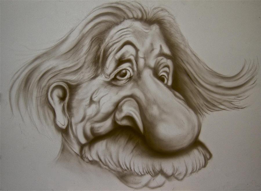 Einstein Caricature Drawing By Steve Vanhemelryck