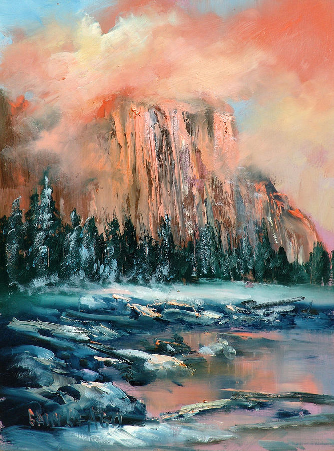 Mountains Painting - El Capitan by Sally Seago