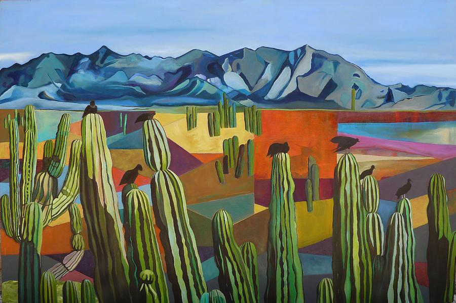 Mountain Painting - El Desemboque by Carolina Stosius