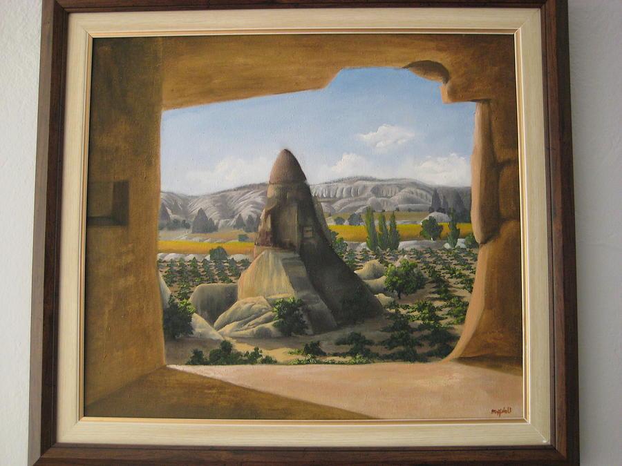 Landscape Painting - El-nazar by Metin Yucefaydali