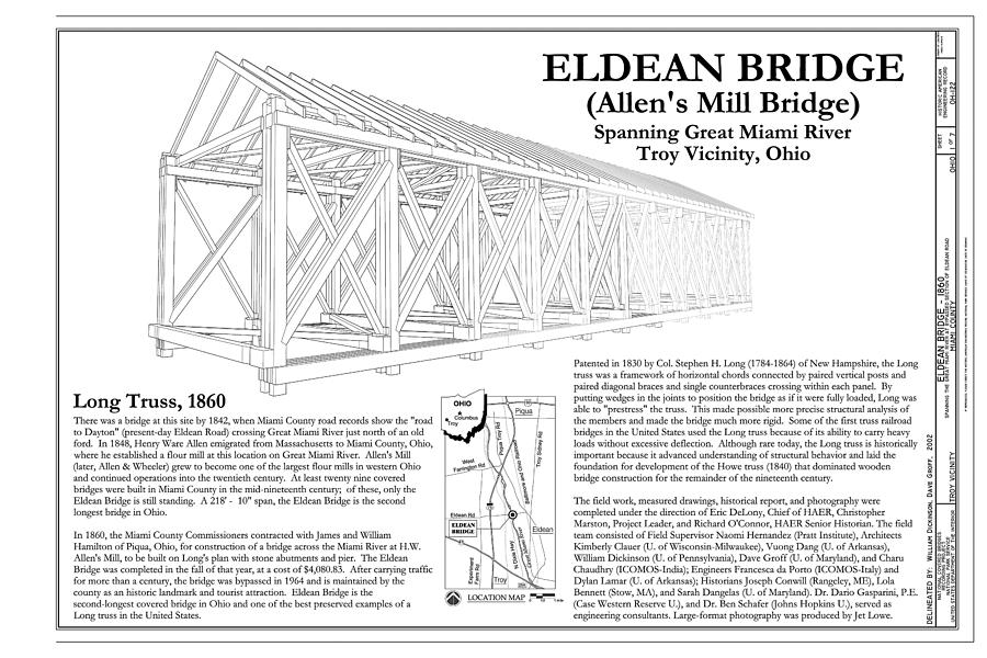 Eldean  Covered Bridge Photograph