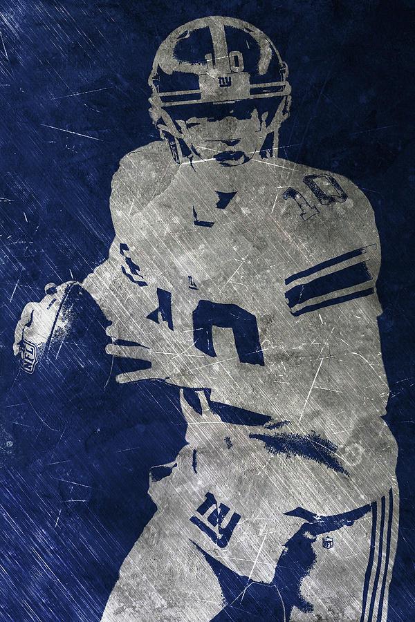 Eli Manning Painting - Eli Manning Giants by Joe Hamilton