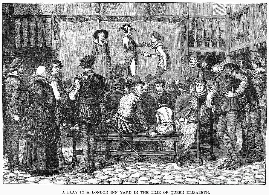 16th Century Photograph - Elizabethan Theatre by Granger
