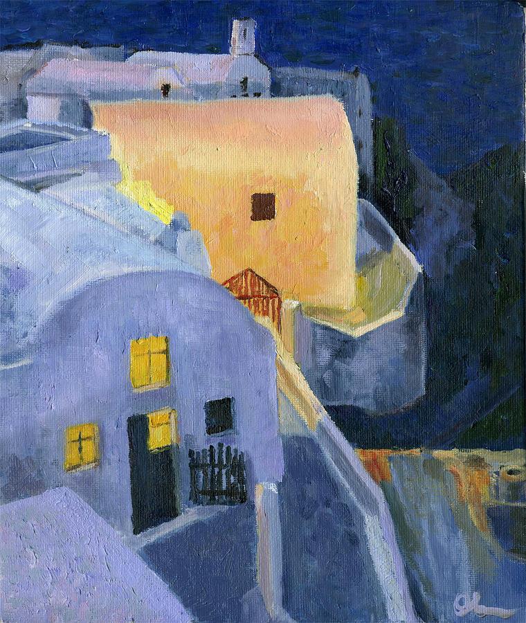 Oil Painting Painting - Ellas by Lelia Sorokina