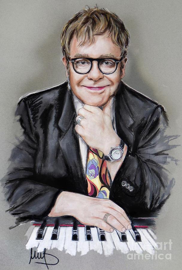 Elton John Painting - Elton John by Melanie D