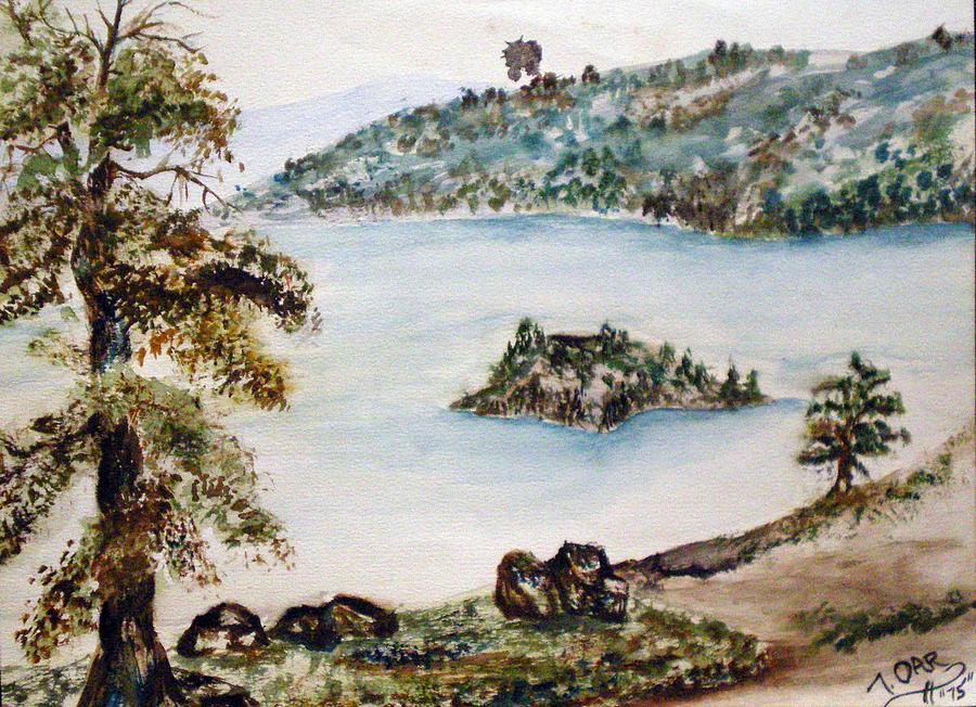 Ake Painting - Emerald Bay Lake Tahoe by Tammera Malicki-Wong