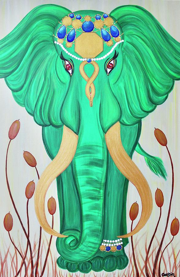 Elephant Photograph - Emerald Grace by Art By Naturallic