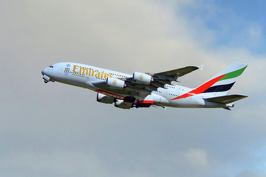 Emirates Photograph - Emirates Airbus A380-861 by Smart Aviation