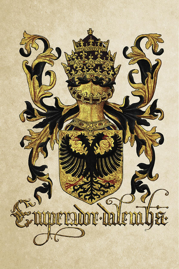 Heraldic Photograph -  Emperor Of Germany Coat Of Arms - Livro Do Armeiro-mor by Serge Averbukh