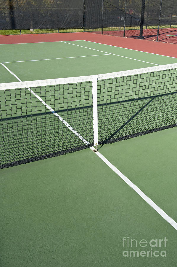 Boundary Photograph - Empty Tennis Court by Thom Gourley/Flatbread Images, LLC