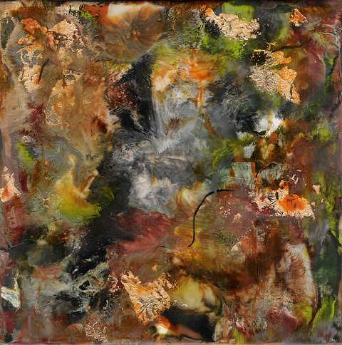 Encaustic Abstract Painting by Linda Rutledge