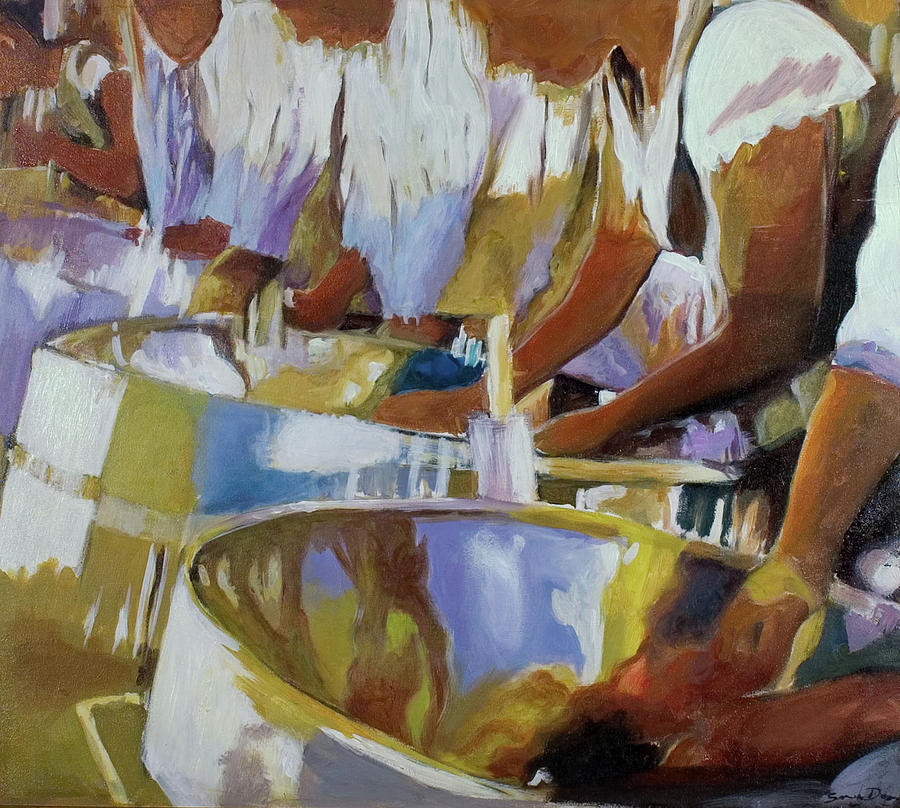 Enchanting Steel Pan Painting by Sandra Dopson