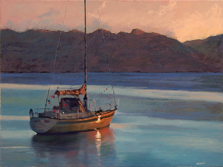 Sail Painting - End of Day by Robert Bissett