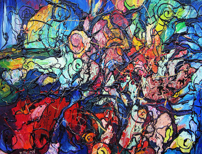 Abstract Painting Painting - Endless Moment by Eugenia Mangra