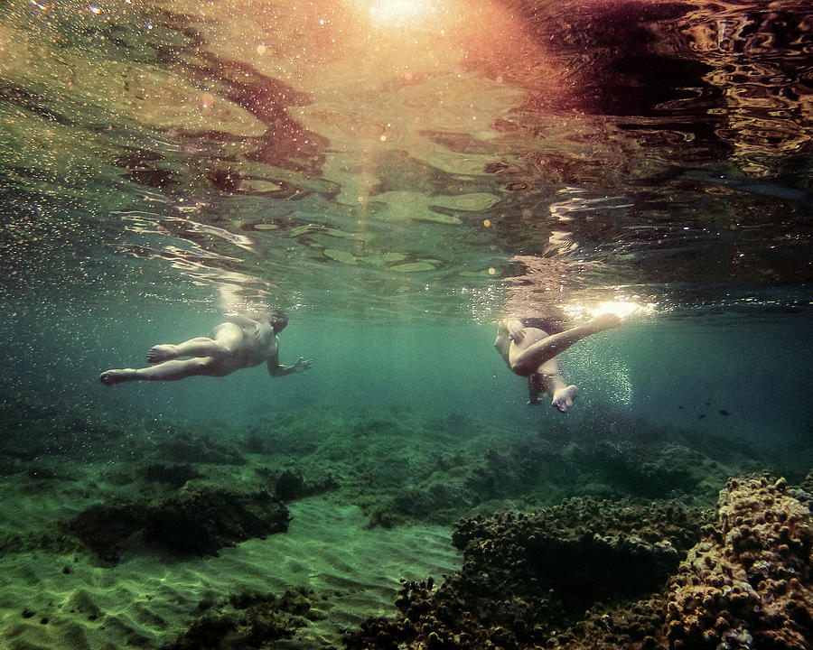 Swim Photograph - Escape by Gemma Silvestre