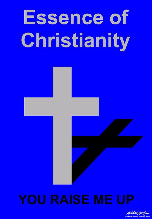 Christ Digital Art - Essence of Christianity  by Asbjorn Lonvig