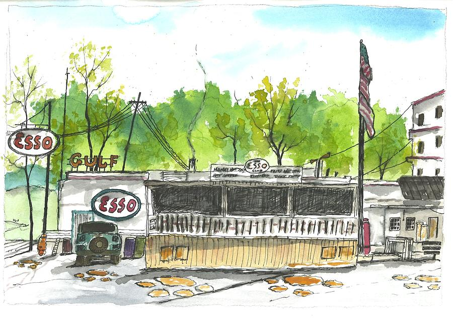 Esso Painting - Esso Club Clemson by Patrick Grills