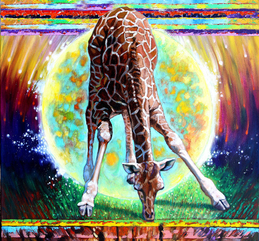 Giraff Painting - Eternal Nature Of Our Universe - Detail by John Lautermilch