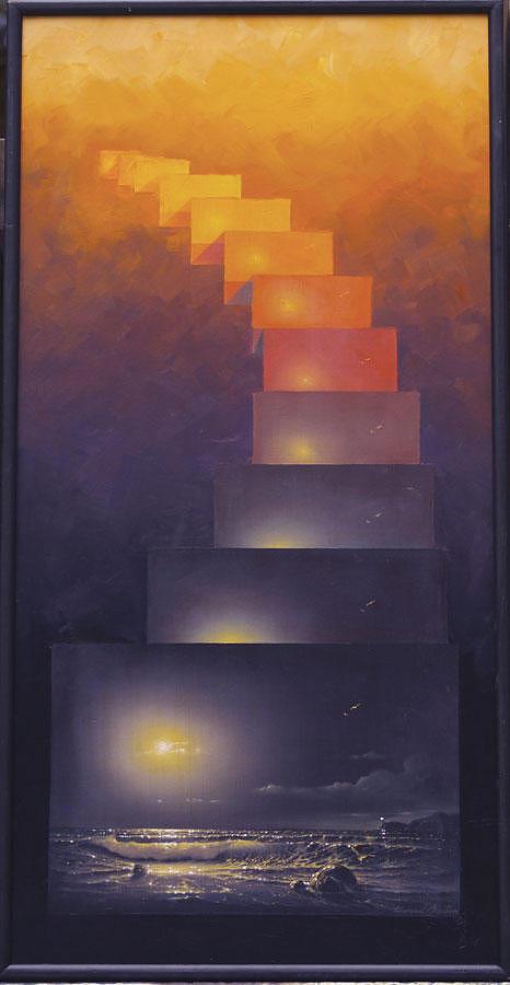 Seascape Painting - Eternisea by Edward Barton