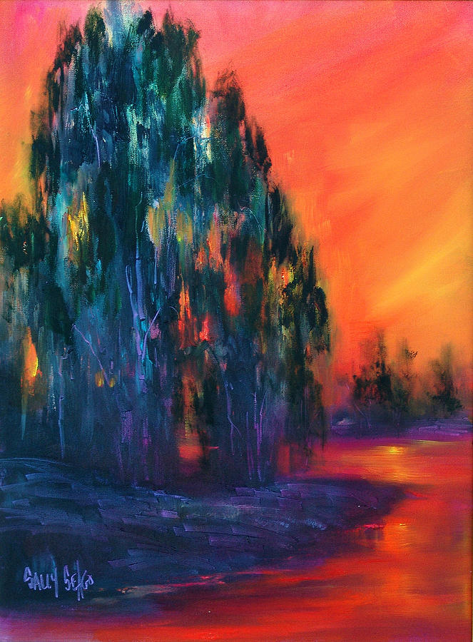 Sunsets Painting - Eucalyptus Sunset by Sally Seago