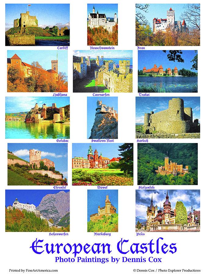 European Castles Poster Photograph