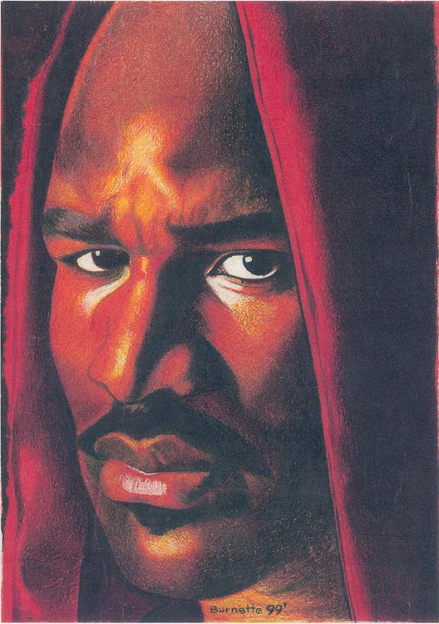 Boxer Drawing - Evander Holyfield by Keith Burnette