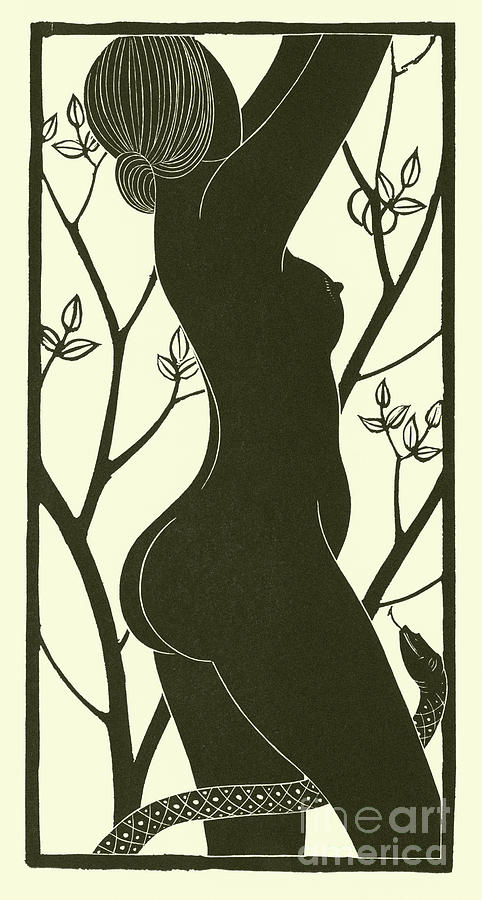 Eric Gill Drawing - Eve by Eric Gill