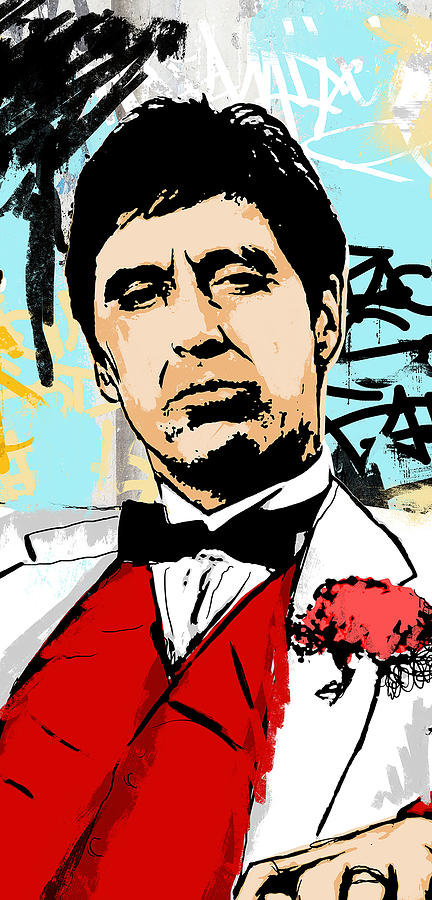 Scarface Digital Art - Even When I Lie by Canvas Cultures
