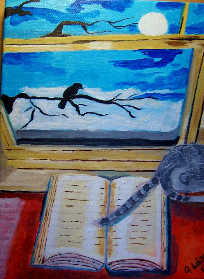 Book Painting - Evening Friends by Ann Whitfield