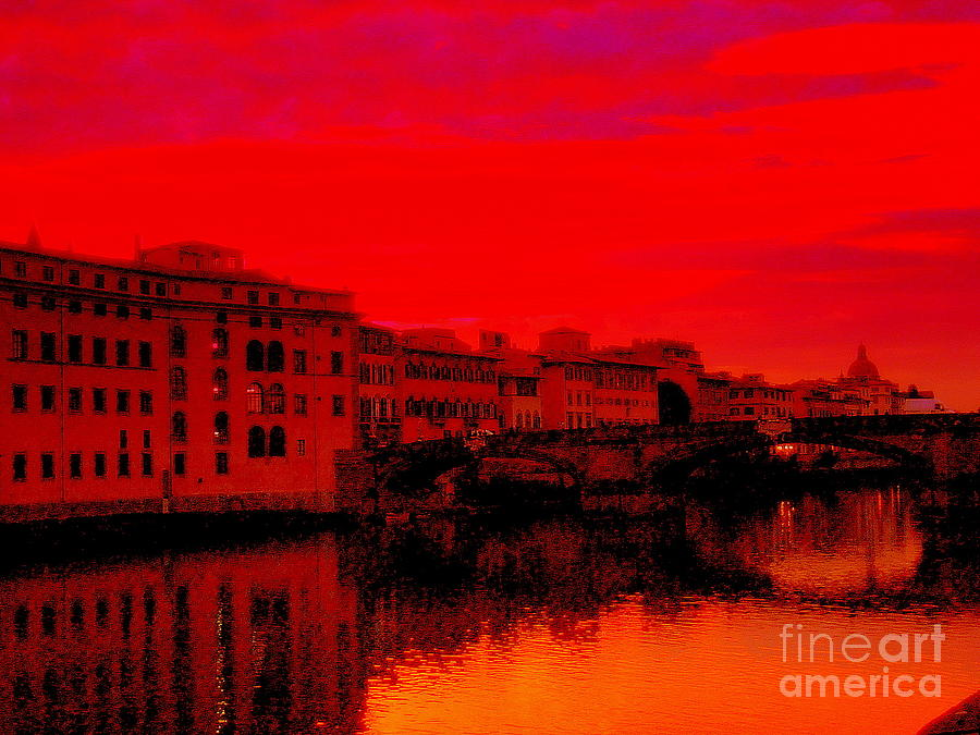 Sunburn Photograph - evening in Florence by Kumiko Mayer