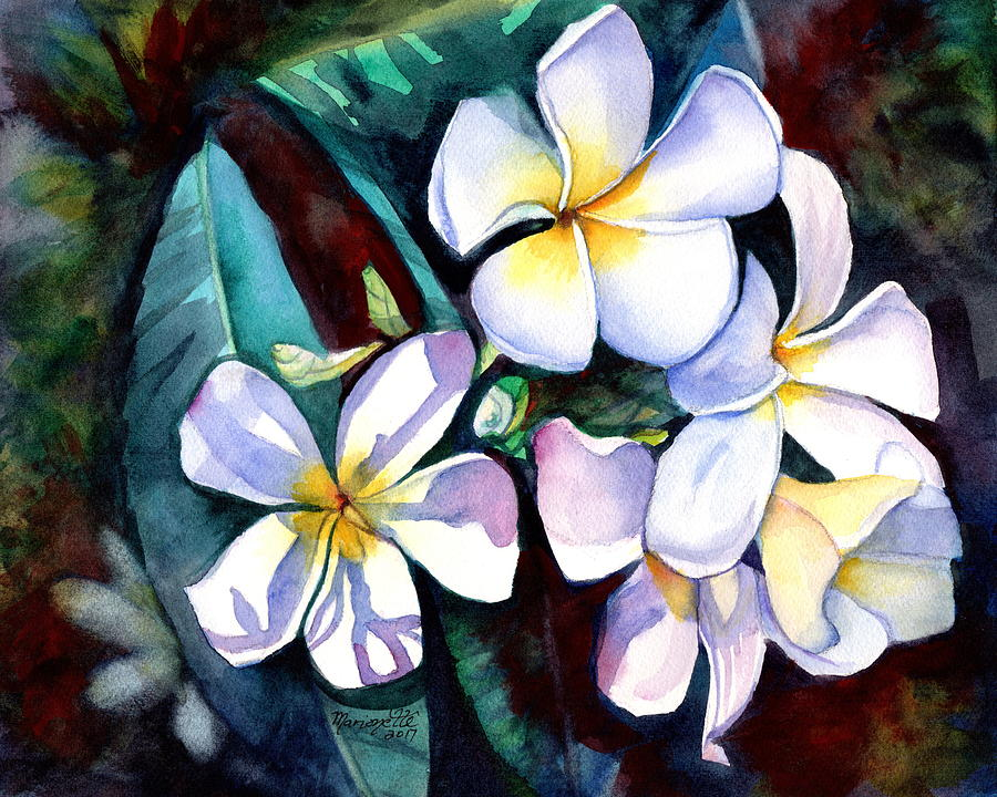 Evening Plumeria by Marionette Taboniar
