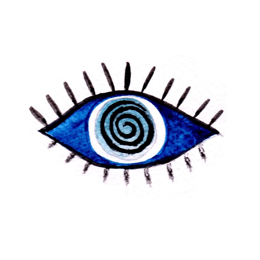 Evil Eye Painting By Sweeping Girl
