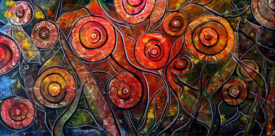 Exotic Painting - Exotic Foliage by Luiza Vizoli