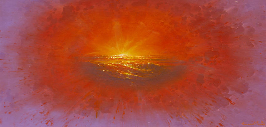 Seascape Painting - Explosion by Edward Barton