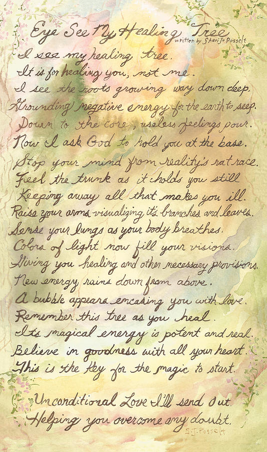 My Healing Tree Poem by Sheri Jo Posselt