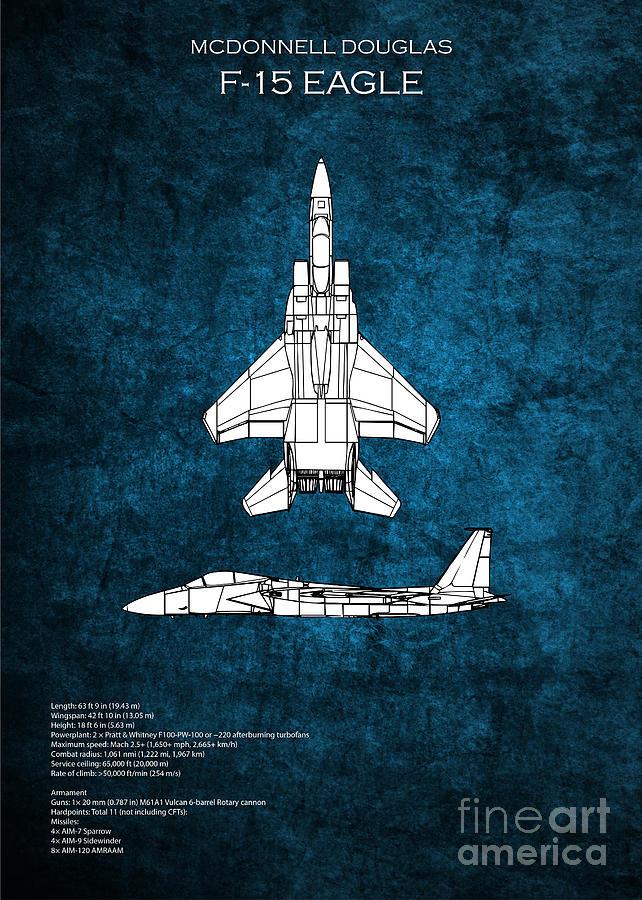 F 15 eagle blueprint digital art by j biggadike f15 digital art f 15 eagle blueprint by j biggadike malvernweather Gallery