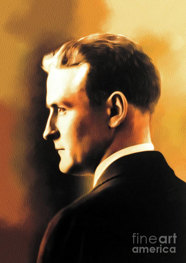F. Painting - F. Scott Fitzgerald, Literary Legend by Esoterica Art Agency