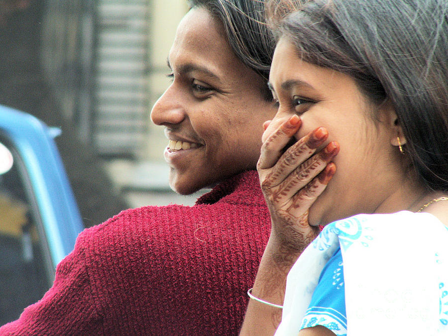 Happy Photograph - Faces Of India - Happy Couple by Steve Rudolph