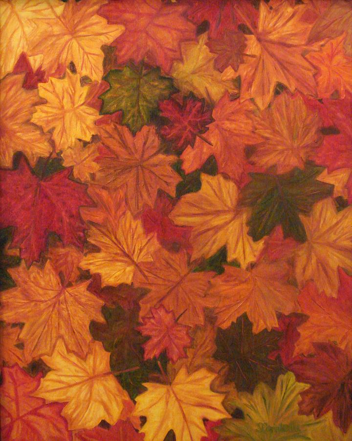 Fall Painting - Fall Has Fallen by Shiana Canatella
