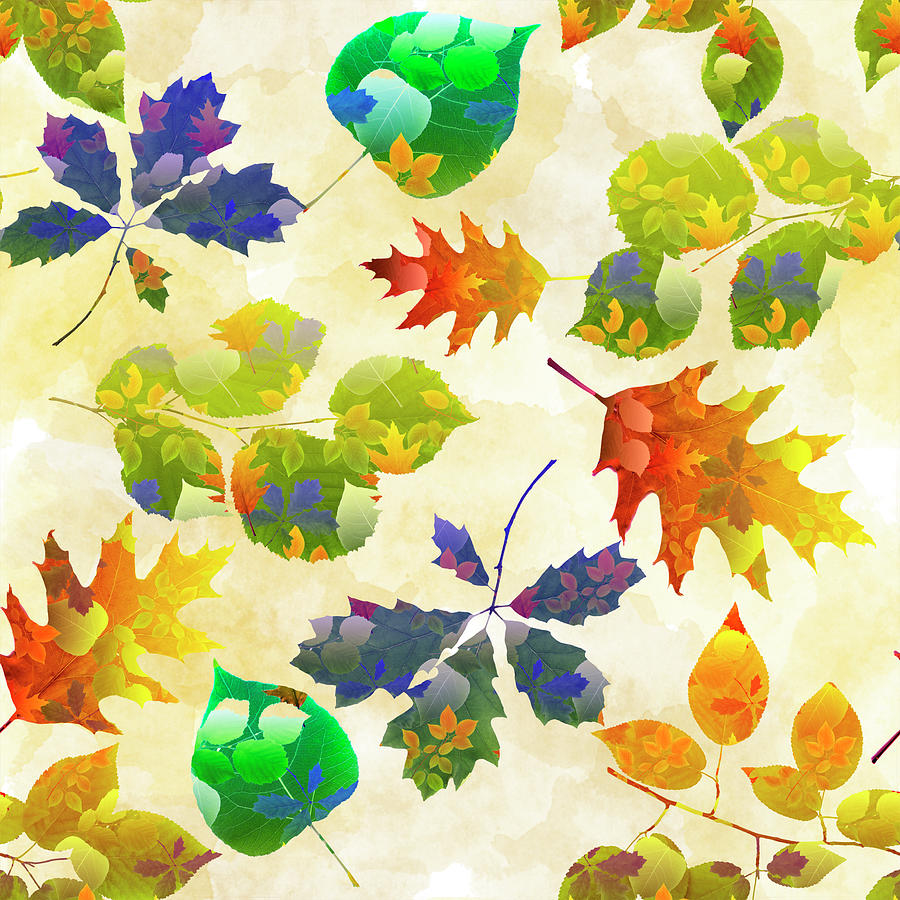 - Fall Leaf Pattern Mixed Media By Christina Rollo