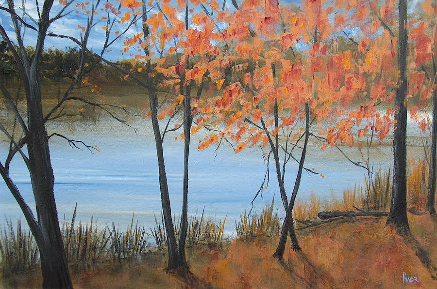 Fall Foliage Painting - Fall N Lake by Pete Maier