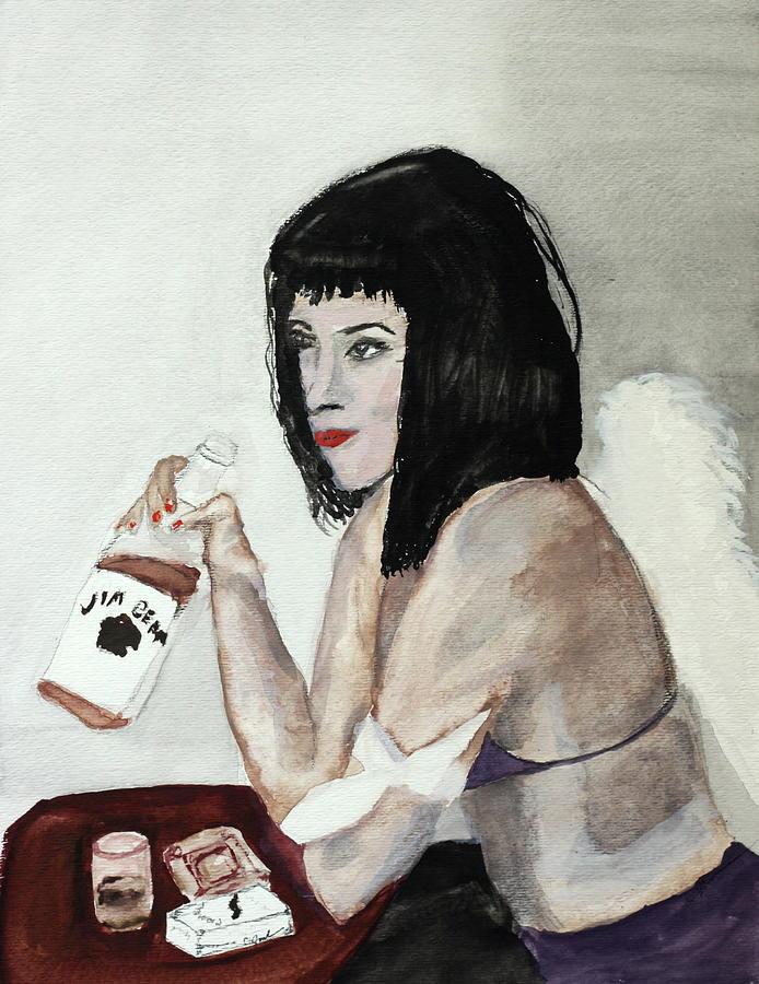 Fallen Angel Painting by Cathy Jourdan