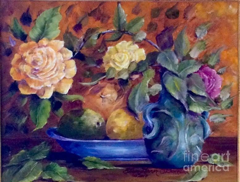 Oil Painting - Falling Leaves by Ellen Lerner ODonnell