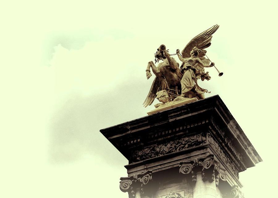 Paris Photograph - Fames Restraining Pegasus Sculpture by JAMART Photography